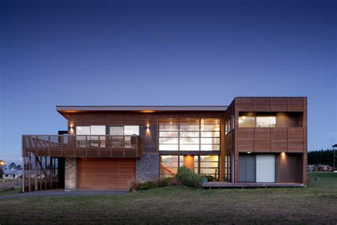 home architecture design camouflaged in slatted timber screens motuoapa house in