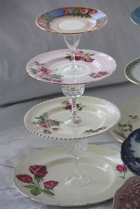 crafty friday project  vintage tiered cake stands