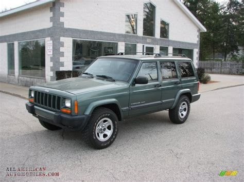 jeep cherokee sport green 2000 jeep cherokee sport 4x4 in forest green pearl