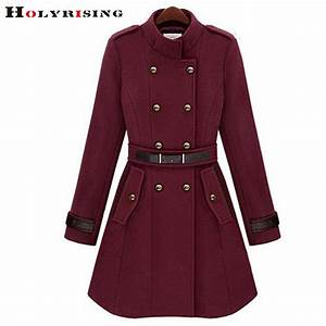 women jacket wool coat Double breasted jacket fashion ...