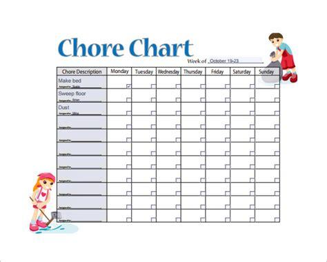 weekly chore chart 11 sle weekly chore chart template free sle exle format free premium