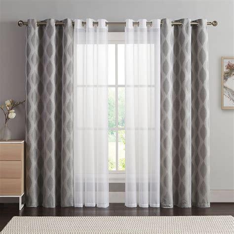 vcny  pack jasper double layer curtain set ideas