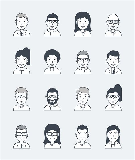 vector user avatar icons averta blog