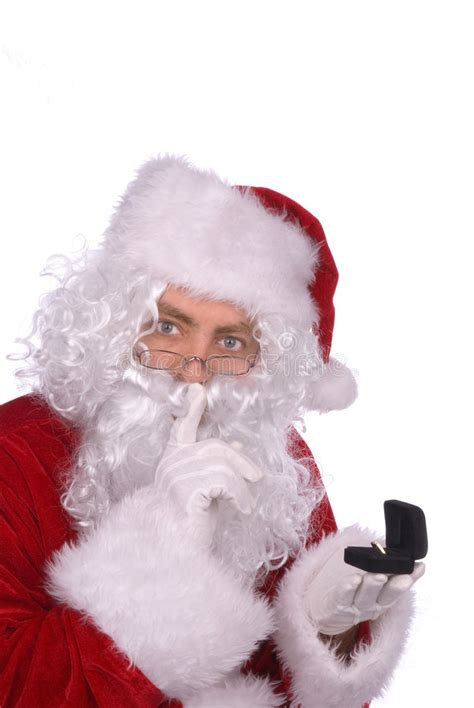 traditional santa claus ringing on santa claus with a ring stock photography image 2032222