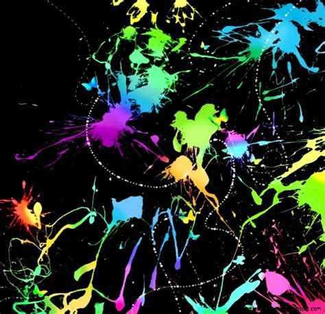Glow In The Backgrounds Glowing Neon Paint Splatter Backgrounds Wallpapers