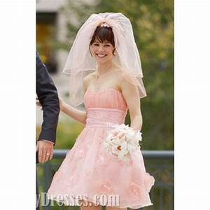 rachel mcadams pink wedding dress in the vow wedding With the vows wedding dresses