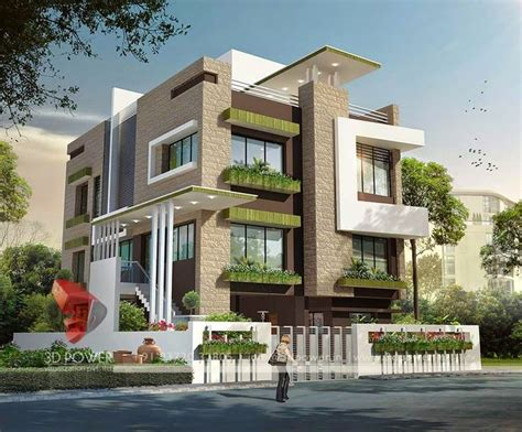 Home Design Exterior Ideas In India by 3d Modern Exterior House Designs 5 Design A House