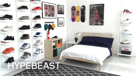 boys bedroom decorating ideas ikea and hypebeast design the ideal sneakerhead bedroom