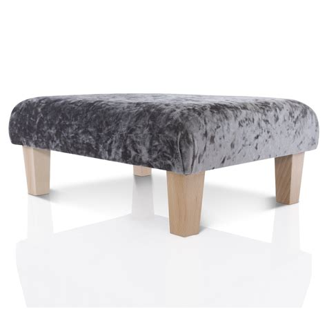 Ottoman Foot Stool by New Footstool Ottoman Crushed Velvet Foot Rest Small
