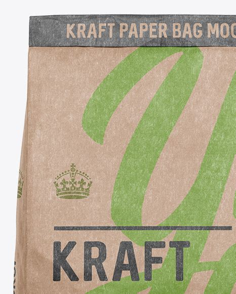 Insert in your own design elements and it is ready to make a good impact on your clients. Kraft Paper Bag Mockup - Front View in Bag & Sack Mockups ...