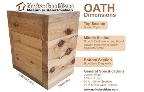 oath hive  honey super native bee hives