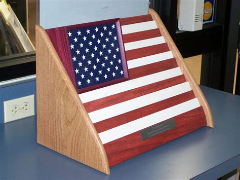 american flag challenge coin holder  aaww