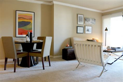 barcelona chair in modern condo contemporary living