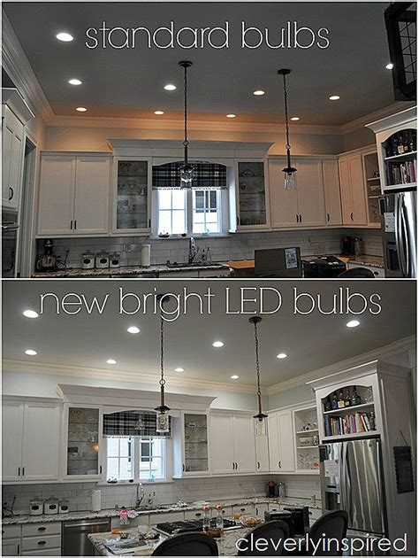 recessed led lights for kitchen brightest recessed lighting for kitchen cleverly inspired 7644
