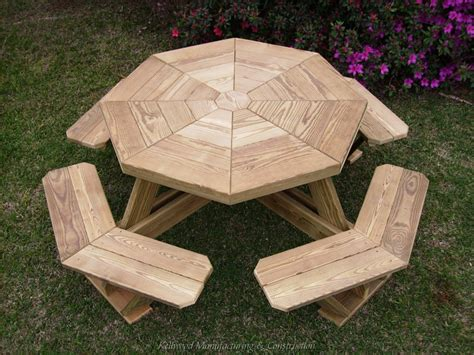 build  shed octagonal picnic table plans