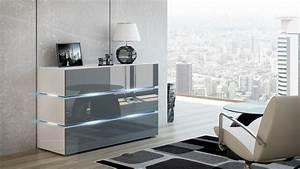 Kommode Weiß Hochglanz 120 Cm : kaufexpert kommode shine sideboard 120 cm grau hochglanz wei led beleuchtung modern design tv ~ Bigdaddyawards.com Haus und Dekorationen
