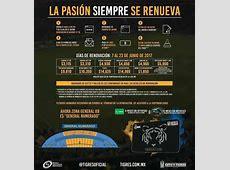 Precios de abonos Tigres UANL 20172018