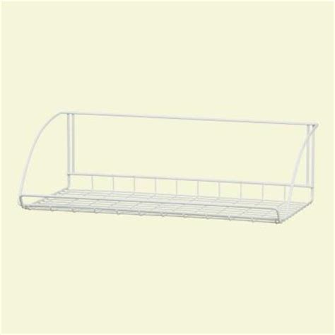 home depot hanging ls closetmaid 24 in white versatile hanging shelf 8279 the