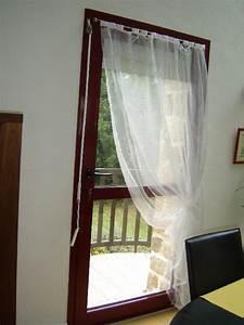 Rideau Pour Balcon : voilage porte fenetre cuisine papillon tulle pour fentre ~ Premium-room.com Idées de Décoration