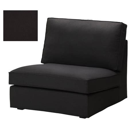 ikea kivik 1 one seat sofa slipcover chair cover idemo black cotton