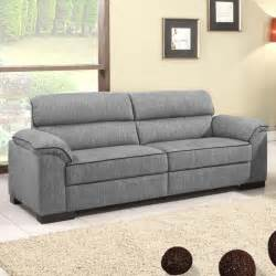 ealing two tone mid grey fabric sofa collection with black
