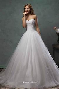 romantic strapless sweetheart layered tulle ball gown With strapless tulle wedding dress