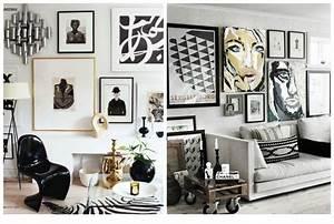 Cadre Deco Noir Et Blanc : id es et photos pour une salle de s jour moderne rustique blogue dessins drummond ~ Melissatoandfro.com Idées de Décoration