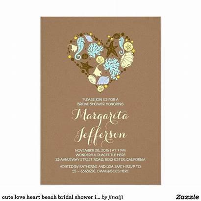 Invitations Zazzle Bridal Shower Invites Heart