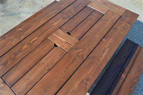 kruses workshop step  step patio table plans  built  coolers
