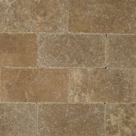 bedrosians pavers travertine tile cobblestone brown 16 quot x