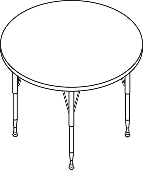 HON Round Activity Table with Long Chrome Legs 48in Diameter