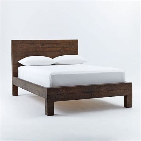 emmerson reclaimed wood bed chestnut