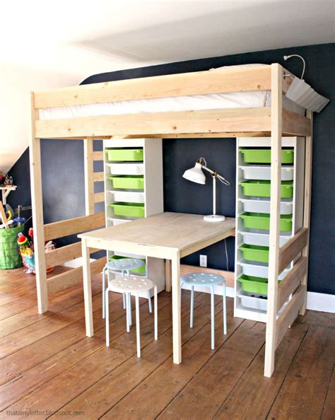 diy loft bed  desk  storage diy storage bed loft
