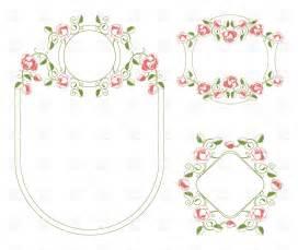 wedding frames floral wedding frames vector image 18725 rfclipart