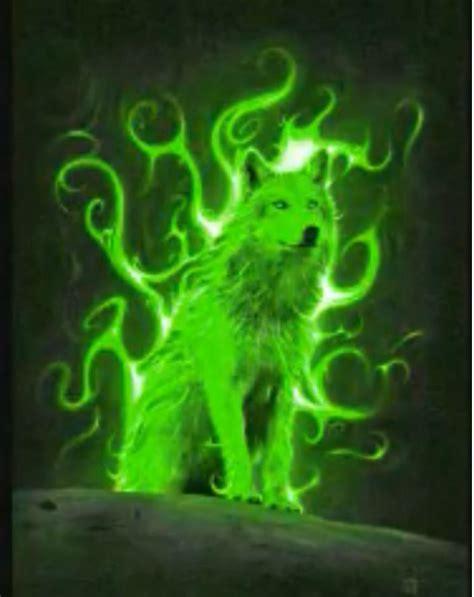 green wolf wallpaper