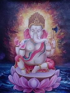 Hindu God Ganesha Thangka Painting | Thangka Paintings
