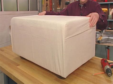 how to build an ottoman how to make a dog ottoman and slipcover hgtv
