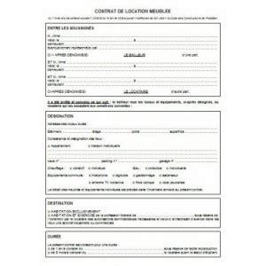 modèle contrat de location meublé étudiant modele bail location meuble 2014 document