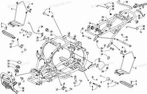 Arctic Cat Atv 2007 Oem Parts Diagram For Frame And