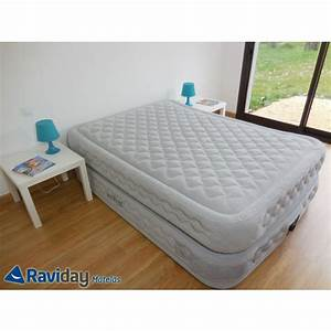 Matelas Lit Gonflable Intex Supreme Bed Fiber Tech 2 Places