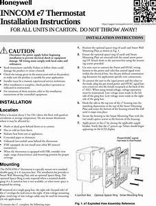 Honeywell 201528100 E7 Thermostat User Manual 31 00093 03