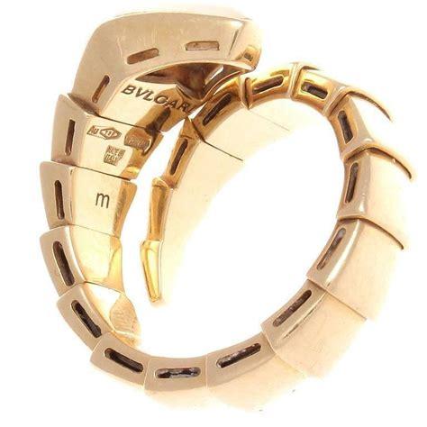 bvlgari bzero1 3 band 18k yellow gold ring size bulgari serpenti of pearl gold ring at 1stdibs