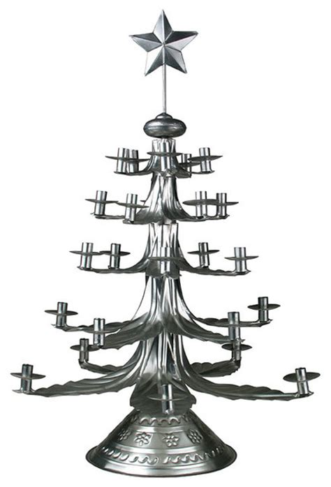 mexican tin christmas candle tree eclectic holiday