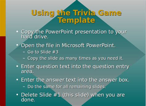 Trivia Powerpoint Template by 9 Trivia Powerpoint Templates Sle Templates