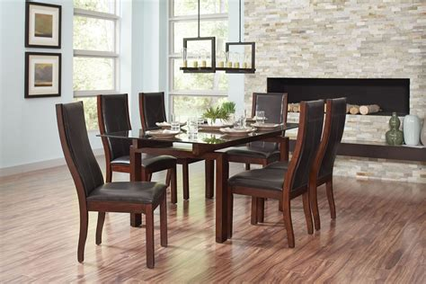 Rossine Red Brown Rectangular Dining Room Set From Coaster