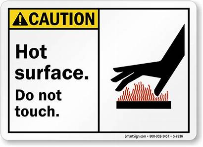 Surface Caution Sign Touch Ansi Signs Hazard