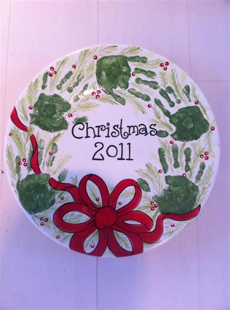cool christmas plate christmas crafts pinterest