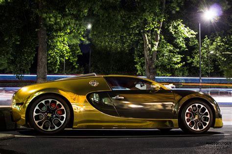 Golden Bugatti Veyron by Photocutout Gold Bugatti Veyron Grand Sport
