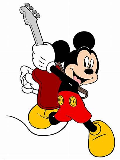 Mickey Guitar Mouse Disney Clip Rocking Playing