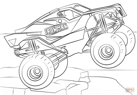 Iron Man Monster Truck Coloring Page Free Printable